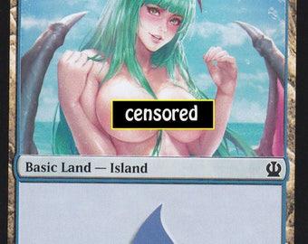 1x Altered Art NSFW Island : Custom Basic Land non-foil MTG card mature