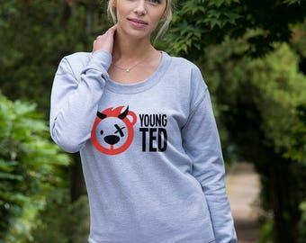 Sweatshirt for Women Teddy Bear Devil Jumper