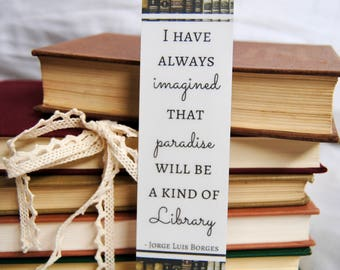 Library Paradise Bookmark