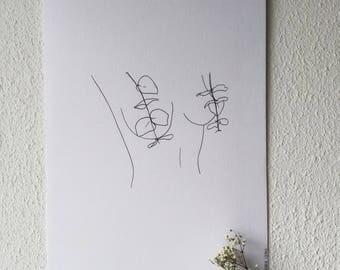 E U K A L Y P T I T S - print illustration/ wall art/ tattoo template