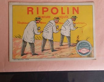 RIPOLIN advertising card