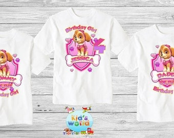 Paw Patrol Family birthday shirt, Custom shirt ,personalized paw patrol Shirt , family shirt,birthday shirt,kids custom birthday shirt d2