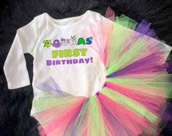 My First Birthday! -  onesie / Tutu
