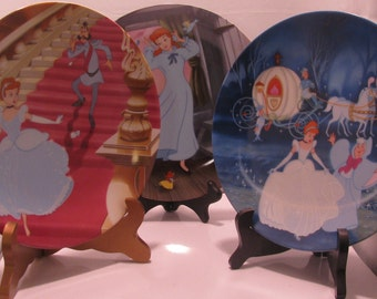 3 Cinderella Plates with Certificates