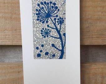 Lino printed greetings card - Ivy bobbles