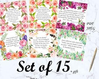 Bible verse cards