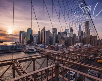 New York Sunset/photography/high quality fine art printing (div. Sizes)