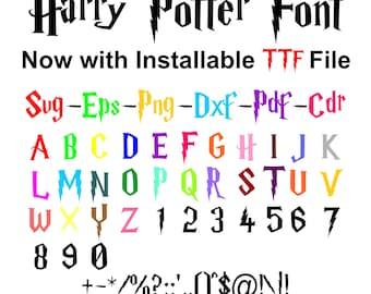 70% Off, Harry Potter Font, Harry Potter Font Svg, Harry Potter Font Installable File, Harry Potter Font Png, Eps, Pdf, Dxf, Clipart, Logo