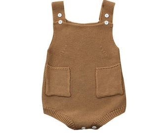 Kuzzy Design Baby Romper,Knitted Baby Romper,Newborn/3/6/9/12 months Baby Romper,Knit Romper,Baby Knitted Sets,Baby Sets
