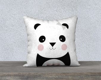 """Pillow cover decorative """"Pandataie of Pillow gift, baby-child decor pillow panda animal themed room"""
