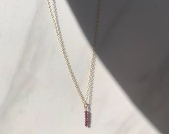 Natural Garnet Gold Choker