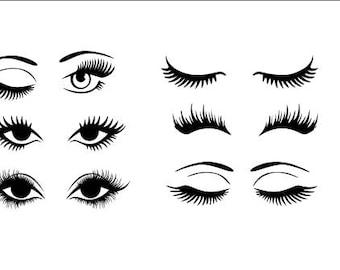 eyelash svg bundle