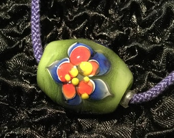 Necklace//Japanese Style//Christmas Gifts for her! > Kimyo Takahama Designed Glass Jewelry Necklace [Kyoto's Flower]