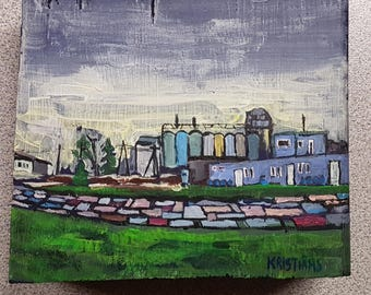 Suburbs Oil Painting Original By Professional Artist Emils Kristians Muzikants
