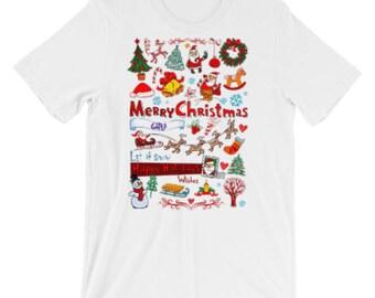 Short Sleeve Christmas T-Shirt for Man's