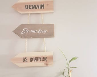 With tomorrow quote wooden arrows I wake up happy