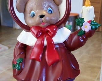 Christmas Caroling Bear