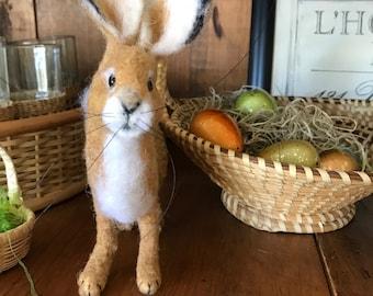 Vintage style Needlefelted  Rabbit, Hare, Bunny