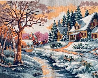 Christmas Cross Stitch-Winter Outing