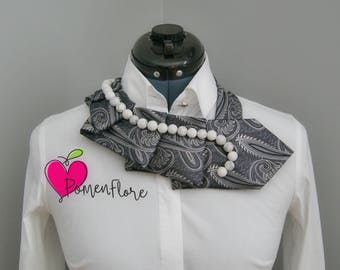 Ladies necktie, Necktie necklace, refashioned clothing, original necklace, unique finds, statement necklace
