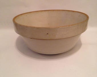 Vintage Salt Glazed Stoneware Bowl