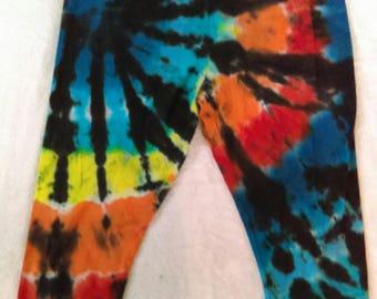 Women's XL Capri Tie Dye Leggings