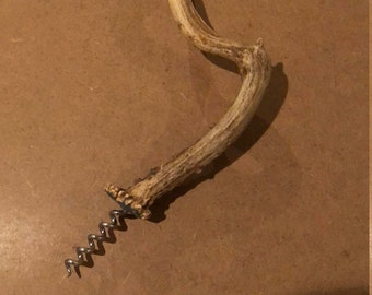Deer antler wine opener