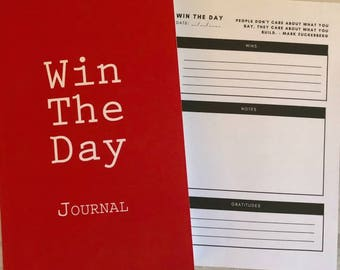 Win The Day Journal | Daily Journal | Gratitude Journal | Morning Journal