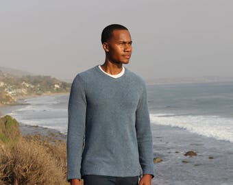 Terry Cotton Pullover - Colonial Blue