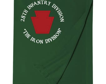 28th Infantry Division Embroidered Blanket-7439