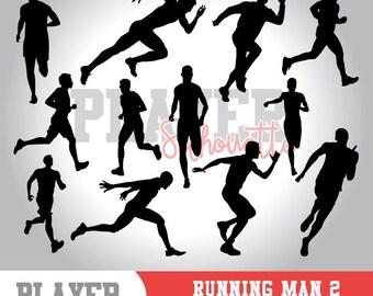Running Men SVG, Running Sport svg, Runner digital clipart, athlete silhouette, Running Men, cut file, design, A-047
