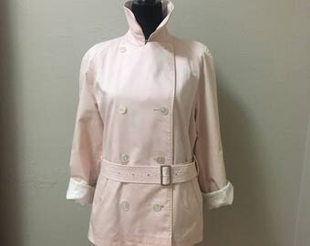 Authentic Burberry Belted Trench Coat Size 12 R Vintage