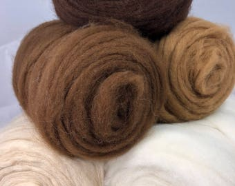 Alpaca Roving - Grade 1 - Sold by the Ounce