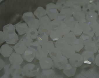 White Jade AB Bicone Glass- Austria Crystal Beads 4mm