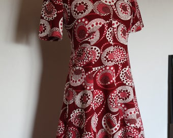 "Dress 60-70 ""Raggie paris"" red and white"