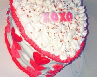 "Valentines ""xoxo"" Cake"
