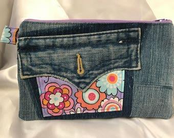 That 70's denim pouch