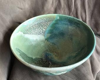 Ceramic bowl - river and sea