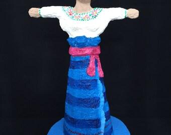 Michoacana, paper mache figure