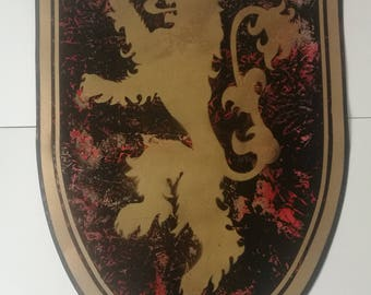 House of Lannister Game of Thrones | Lion Shield Spray Art Painting