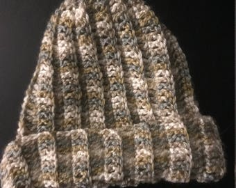 Multi-Color Crocheted Hat