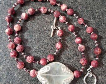 Garnet and Quartz Necklace