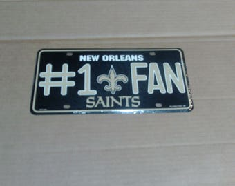 New Orleans Saints License Plate
