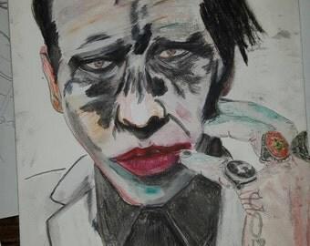 Dessin de / Drawing of Marilyn Manson (Heaven upside Down)