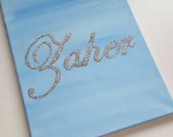 Personalized canvas , kids room , nursery , baby shower ,