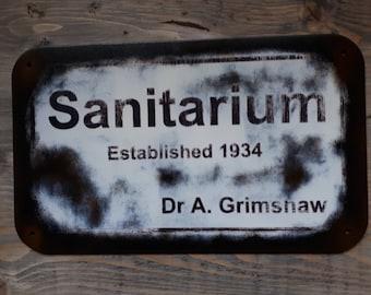 Dr Grimshaw's Sanitarium - Old Time Radio SciFi inspired wall hanger