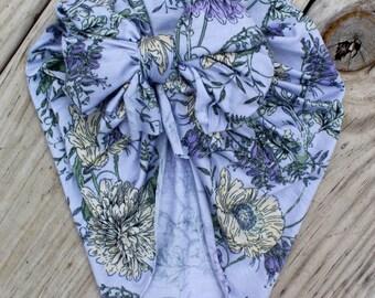 Poppy-Mum floral turban