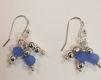 Sterling Silver plated and blue beads
