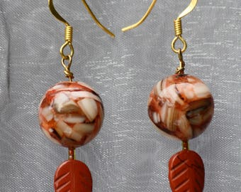 Shell conglomerate earrings