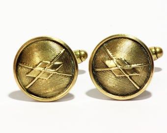 Nautical Vintage Brass Cuff links - Uniform buttons